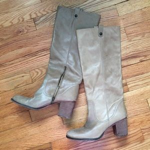 vince camuto tan knee high tall high heeled boots